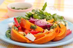 Cafe style Roasted Pumpkin Salad Recipe for Summer | healthylivinghub.net