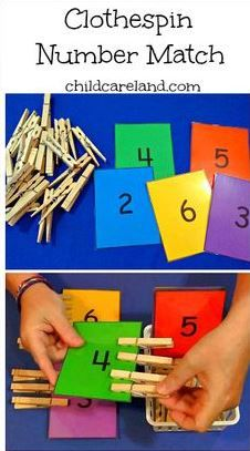 I made this for our math center . it's also great for fine motor development. by dorthy Clothespin Number Match . I made this for our math center . it's also great for fine motor development. by dorthy Motor Skills Activities, Educational Activities, Classroom Activities, Preschool Activities, Number Activities For Preschoolers, Preschool Fine Motor Skills, Preschool Centers, Counting Activities, Children Activities