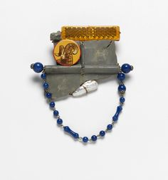Robert W. Ebendorf Ram It, 2014 Pearl, found objects, glass beads, and copper
