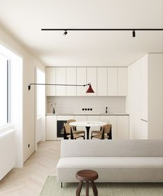 Home Interior Bathroom This Modern Scandinavian-Style Apartment is a Lesson in Warm Minimalism.Home Interior Bathroom This Modern Scandinavian-Style Apartment is a Lesson in Warm Minimalism Decor Scandinavian, Scandinavian Interior Design, Interior Design Kitchen, Modern Interior Design, Interior Decorating, Nordic Design, Interior Livingroom, Interior Architecture, Interior Colors