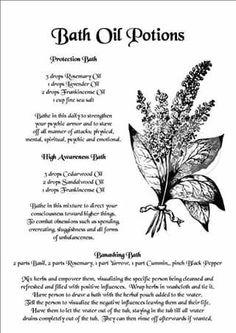 Bath oil potions – witchy – Home Recipe Spiritual Bath, Spiritual Cleansing, Healing, Essential Oil Blends, Essential Oils, Cedarwood Oil, Bath Recipes, Herbal Magic, Magic Herbs