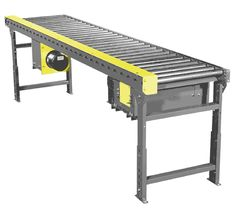 The Model 519 Chain Driven Live Roller Conveyor from Titan is designed to handle medium duty loads such as boxes, light weight pallets and drums.