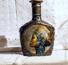 Декор предметов Декупаж Опять имитация Бутылки стеклянные Краска фото 1