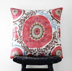 Image of ORISSA Linen Cushion Cover, Throw Pillow, 55 cm x 55 cm, 22 inch x 22 inch