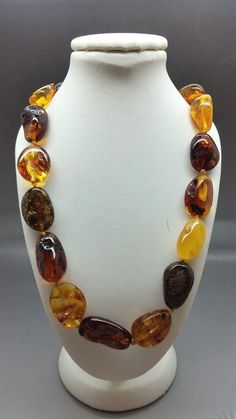 Beautiful Genuine Baltic Amber Necklace for Woman MIX