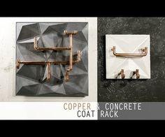 Use a Cheap PVC Tile to Make Concrete & Copper Coat Rack