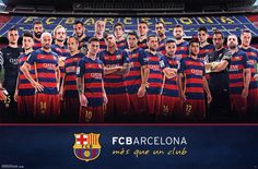 """Trends International FC Barcelona Team Wall Poster 22.375"""" x 34"""". 22.375"""" x 34"""" wall poster. Officially licensed poster. High Quality - Crystal clear image. Printed on FSC-certified paper at FSC-certified printers. Ready to frame."""