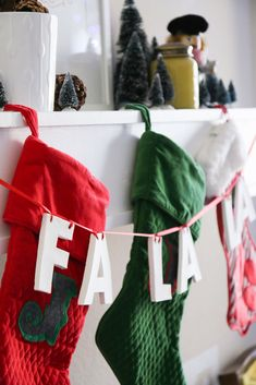 DIY Holiday Clay Letter Garland from A Pair of Pears