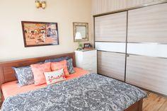 Bedroom Makeover & Decorating Ideas For Small Space (Renter Friendly Too) / Master Bedroom Tour Bedroom Closet Design, Bedroom Wardrobe, Bedroom Designs, Bedroom Decorating Tips, Decorating Ideas, Sliding Wardrobe Designs, Orange Cushion Covers, Indian Bedroom, Master Bedroom Makeover