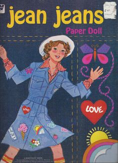 Jean Jeans Paper Doll 1975 by thecollectiblechest on Etsy