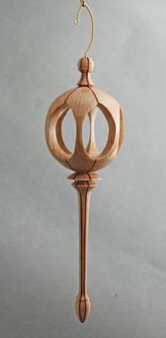 6 Window Wood Turned ornament by David Reed Smith