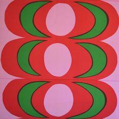 LARGE Original Marimekko Fabric Panel by Maija Isola KAIVO 1968 Eames 50 x 50 #Marimekko