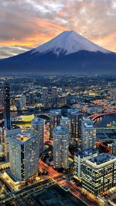Yokohama City And Mt. Fuji - Japan