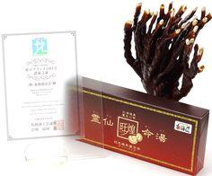 霊仙命湯は北海道の大自然の中、自社一括管理の下で栽培した霊芝を使用し、製造した健康補助食品です。  The best reishi tea you'll ever had...Best product of the north Award.