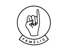 Famèlic designed by Edu Vila. the global community for designers and creative professionals. Logo Label, 2 Logo, Typography Logo, Logo Branding, Lettering, Logo Design, Identity Design, Design Art, Graphic Design