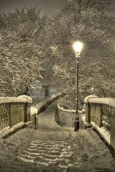 Winter Night in Chester, England. Snow is all a part of the beauty of nature Winter Szenen, Winter Magic, Winter Time, Winter Walk, Winter Sunset, Winter Light, Christmas Holiday, Christmas Lights, Christmas Ornaments