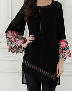Kurti Embroidery Design, Embroidery Suits, Pakistani Wedding Outfits, Pakistani Dresses, Stylish Kurtis Design, Sleeves Designs For Dresses, Kurti Patterns, Kurti Neck Designs, Velvet Fashion