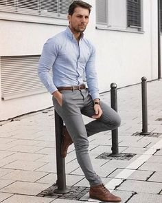 Men& Style Inspiration, Casual Work Outfit To Copy Now 19 - Mens outfits - # Summer Business Attire, Business Casual Men, Business Outfits, Smart Casual Men Work, Smart Style Men, Casual Office, Big Men Fashion, Fashion Mode, Mens Fashion Suits