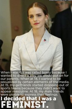 Still can't get enough of Emma Watson and her speech on gender equality. #feminism