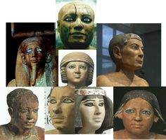 Ancient Egyptians with blue eyes (they loved lapis lazuli, sometimes even used it for hair of statue)