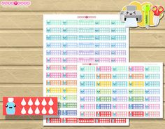 Hydrate Kawaii planner stickers