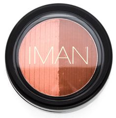 IMAN Luxury Blushing Powder Duo, fragrance-free. Silky powder blush with a matte finish. Available @ Well.ca #unscented #scentfree #fragrancefree