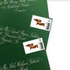 Warm Wiener Dog Postage Stamps