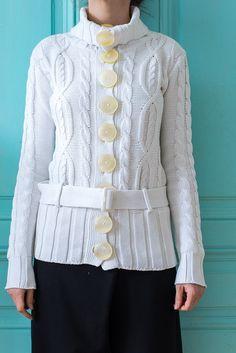 Knit Cardigan, Button Up, Ruffle Blouse, Sweaters, Cardigans, Shirt Dress, Unique, Womens Fashion, Shirts