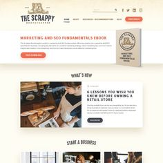 The Scrappy Bootstrapper needs a website! Blog and V-Log that provides advice on the challenges of starting a business from scratch. Revenue will come from aff...
