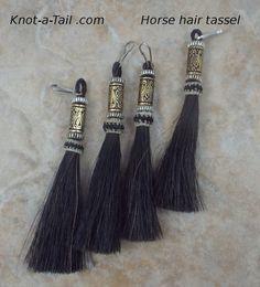 Elegante Perlen Pferd Haar Quasten einzigartige von Knotatail