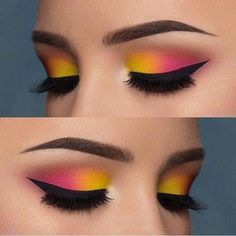Love or not? Double tip for this eye make-up from - Love or not? Double tip for this eye make-up from The Effective Pictures We Offer You A - Makeup Eye Looks, Pink Eye Makeup, Eye Makeup Steps, Eye Makeup Art, Colorful Eye Makeup, Cute Makeup, Smokey Eye Makeup, Makeup Inspo, Eyeshadow Makeup