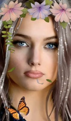 Spring is here hopefully 🦋 💐🤍🌹🦋💐 Most Beautiful Faces, Beautiful Gif, Beautiful Roses, Beautiful Pictures, Beautiful Fairies, Beautiful Fantasy Art, Love Images, Cute Lovers Images, Splash Images