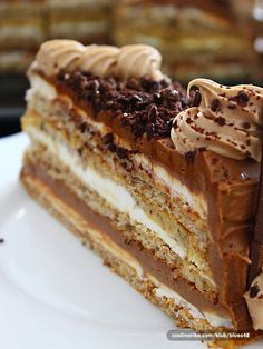 Croatian cake - egg whites and walnuts with buttercream and chocolate Pastry Recipes, Baking Recipes, Cake Recipes, Sweet Desserts, Sweet Recipes, Food Cakes, Cupcake Cakes, Bosnian Recipes, Croatian Recipes