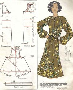 Pattern by YoModista Vintage Dress Patterns, Clothing Patterns, Vintage Dresses, Vintage Outfits, Vintage Fashion, Sewing Clothes, Diy Clothes, Patron Vintage, Modelista