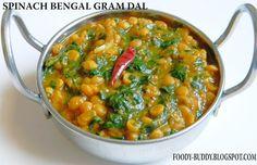 CHANNA PALAK / SPINACH - BENGAL GRAM DAL - DAL RECIPE - pressure cooked, Gluten Free, Vegan