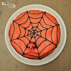 Au fil de leurs anniversaires - Idée gâteau anniversaire fille garçon 4 5 6 7 8 10 11 12 ans - Spiderman - Gâteau rouge - toile d'araignée - Pâte a sucre et glaçage royal (eau et sucre glace) - Cake Design - Pâtisserie DIY - Fait Maison- Gâteau Tigre - issu du blog Maman Sur Le Fil