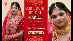 Beautiful Airbrush Bridal Makeup By Meribindiya Team at Venue Noida Best Bridal Makeup, Best Makeup Artist, Airbrush, Makeup Yourself, Best Makeup Products, Hair Makeup, Hairstyle, Bride, Beautiful
