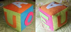 Cubo de colores para bebes   Manualidades de hogar