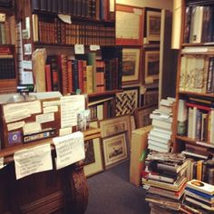 Heaven is endless time to browse for treasures in a used bookstore.