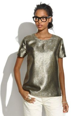 Madewell Shimmer Tee    #Chic Only #Glamour Always
