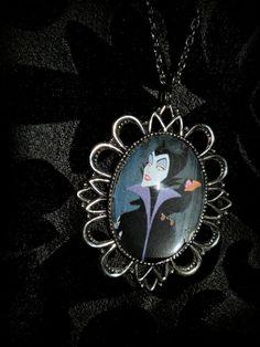 Maleficent glass cameo