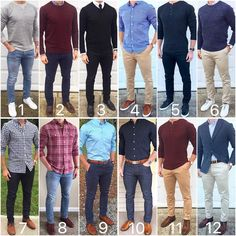 Here's some fall style inspiration from the month of November. What were your favorite outf. Stylish Mens Outfits, Stylish Mens Fashion, Mens Fashion Suits, Fashion Shirts, Fashion Fashion, Formal Men Outfit, Dress Casual, La Mode Masculine, Herren Outfit