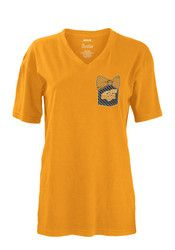 Wichita State Shockers Womens Gold Buffy Unisex Tee