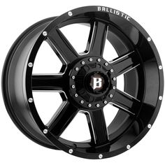 """4-Ballistic 979 Yukon 20x9 6x4.5""""/6x5.5"""" +0mm Black/Milled Wheels Rims 20"""" Inch · $887.96 20 Inch Rims, Wheel And Tire Packages, Wheels And Tires, Pattern, Black, Products, Black People, Patterns, Model"""
