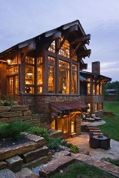 Casas e Decoração Rústica, iluminação.