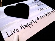 """Engagement gift. Countdown To Wedding, """"Days Until..We Live Happily Ever After!"""" (Beach) Wedding Countdown. Gift For Couple. by CountdownChalkboards on Etsy"""