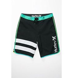 "Hurley Mens Block Party Core Black 19"" Boardshorts Hurley"