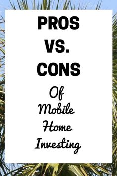 Are Mobile-Homes Good Investments