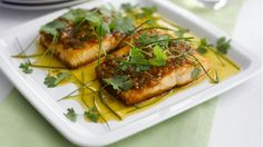 Salmon Fillet with Ketchup Vinaigrette