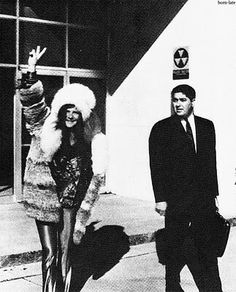 Janis leaving the police station in 1969 after being arrested for 'vulgar and indecent language'